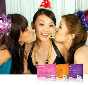 Thẻ tín dụng quốc tế Visa Ladies First